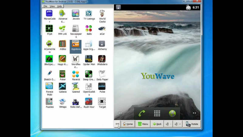YouWave - download android emulator for Windows 7, Windows 8